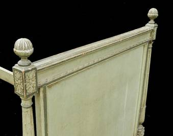 Antique Epoque French Louis XVI Directoire Daybed Single Bed Sofa Childs original paint