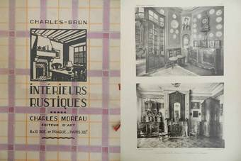 Antique Moreau Brun 1920  1930 French Interior Design Folio Photographs from French Provincial Country Houses