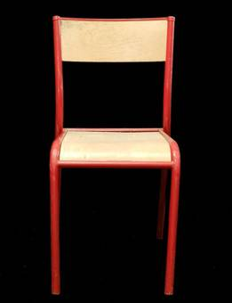 Antique 10 Red Stacking Chairs Mid Century will sell as 6  4