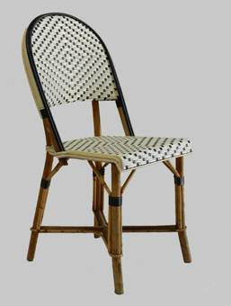 Antique 4 French Bistro Chairs Woven Maison Gatti Rattan Paris style