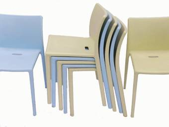 Antique 7 Stacking Air Chairs by Jasper Morrison for Magis