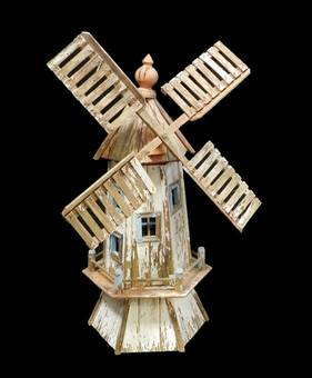 Antique Folk Art Windmill Vintage Garden Ornament original paint gloriously weathered