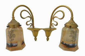 Antique Pair of French Art Nouveau Wall Lights Appliques matching chandelier available