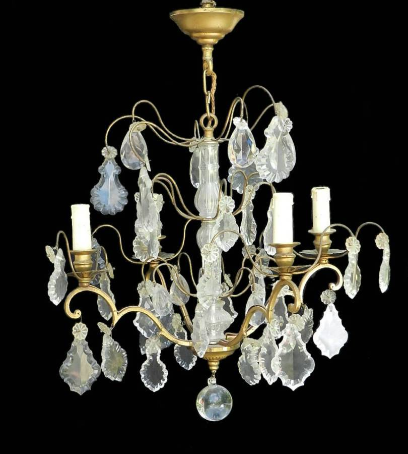 Antique French Drop Chandelier c1900