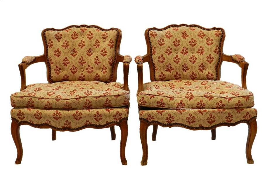 Pair of Diminutive French Open Armchairs