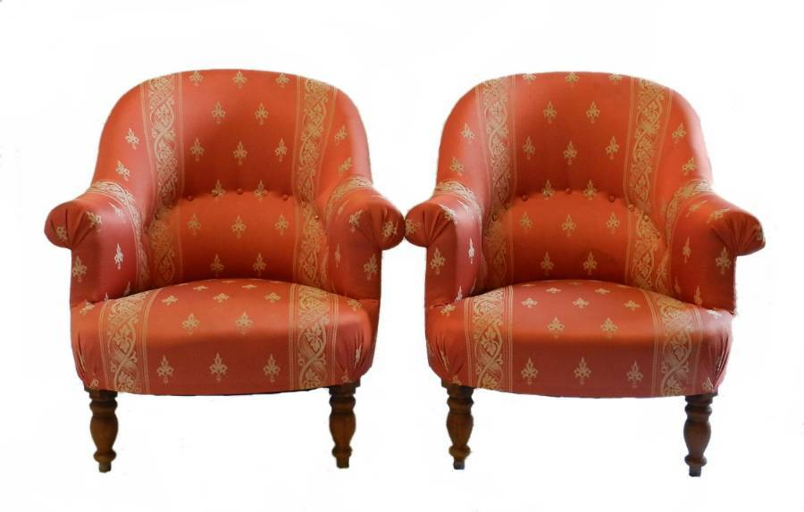 Pair of French Armchairs c1900 to recover