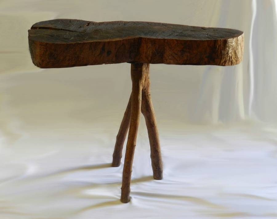 Antique Antique Root Coffee Table Side or Console Olive Wood