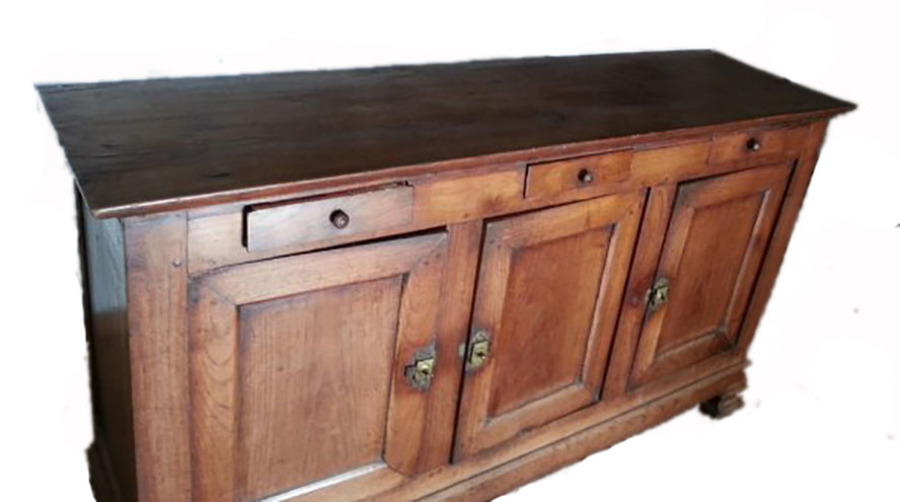 Antique C19 French Oak Country House Enfilade Buffet