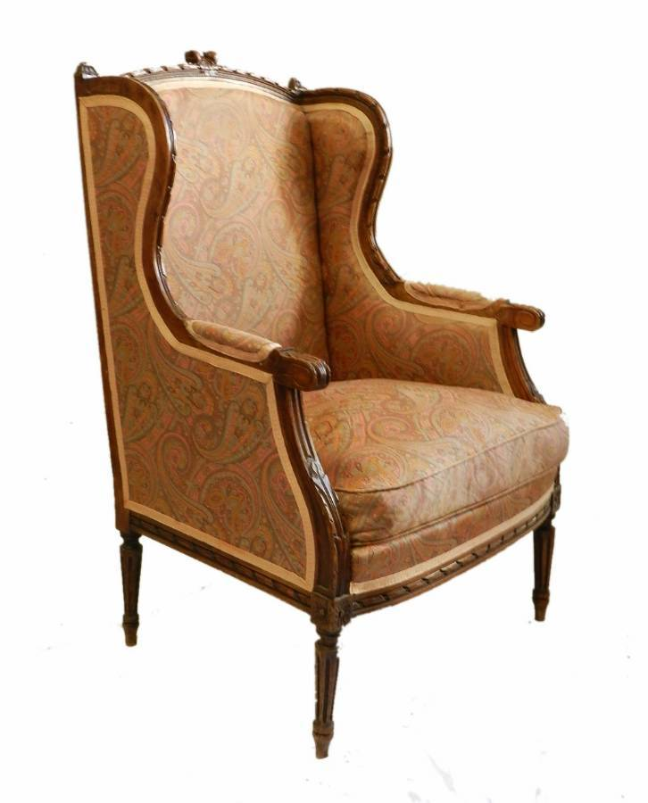 French Bergere Armchair C19 Louis XVI st