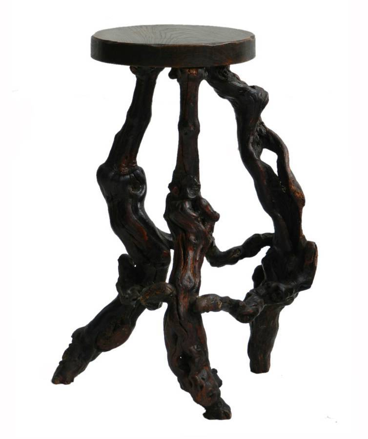 Unusual Antique Vine Root Stool