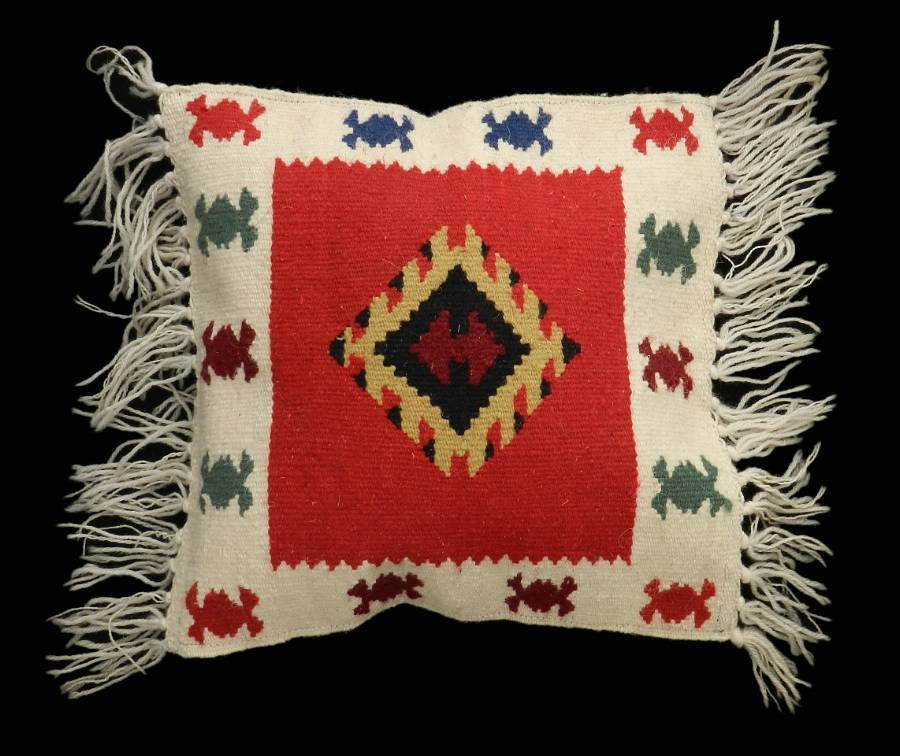 Vintage Kilim Accent Pillow Unique Throw Cushion