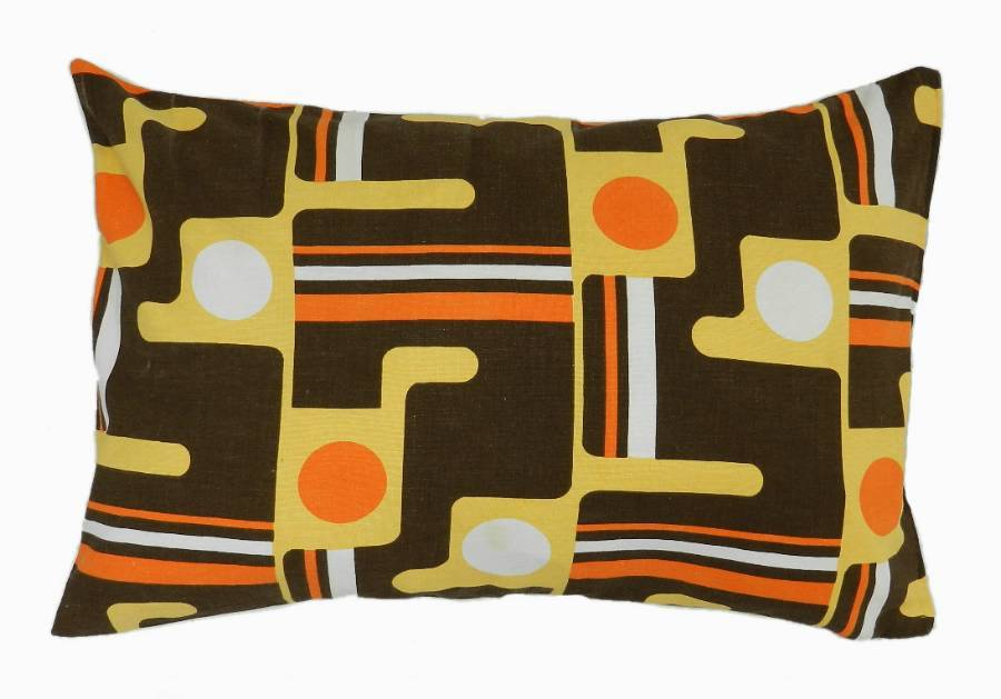 2 Throw Pillows Accent Cushion Vintage Mid Century Fabric