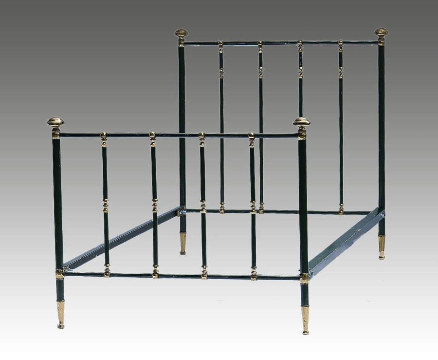 French Brass  Iron Bed Single early C20