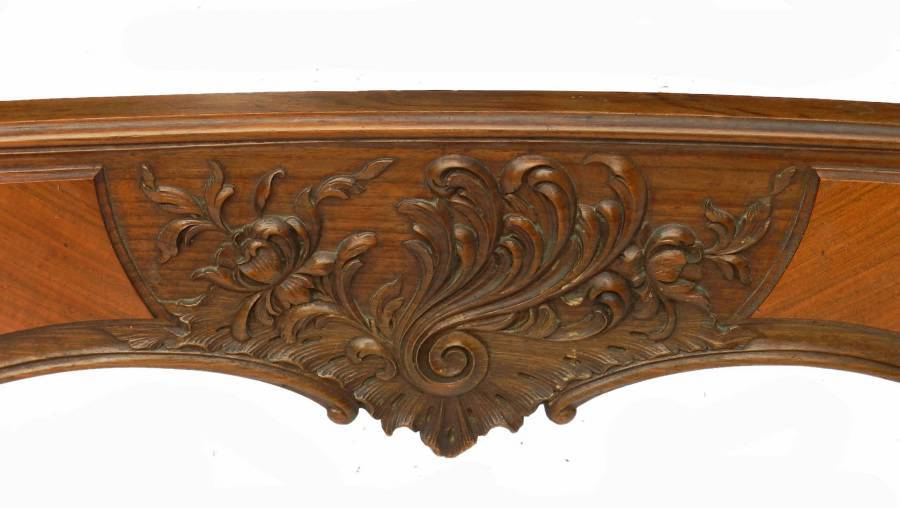 Antique Antique French Bed  Base Double just add mattress Walnut Rococo Louis