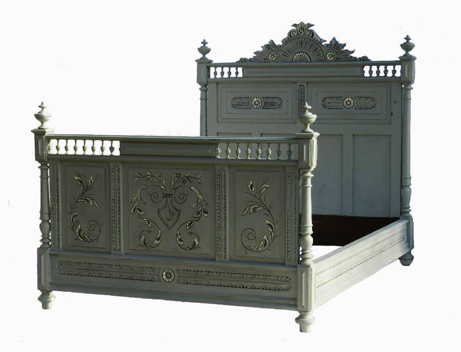 C19 French Double Bed  Base painted