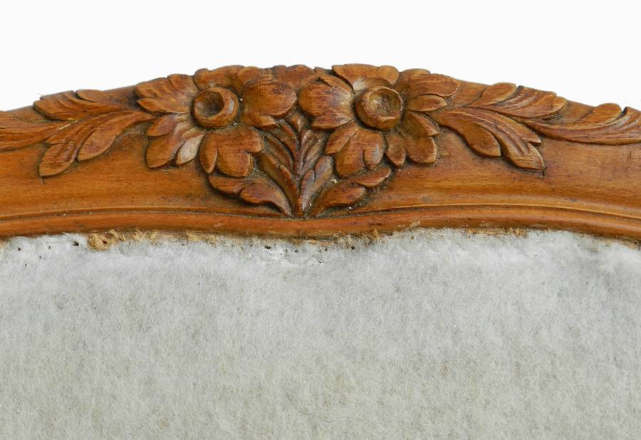 Antique French Bed UK KingSize or US Queen  Base with recovering included Scroll End Cherry