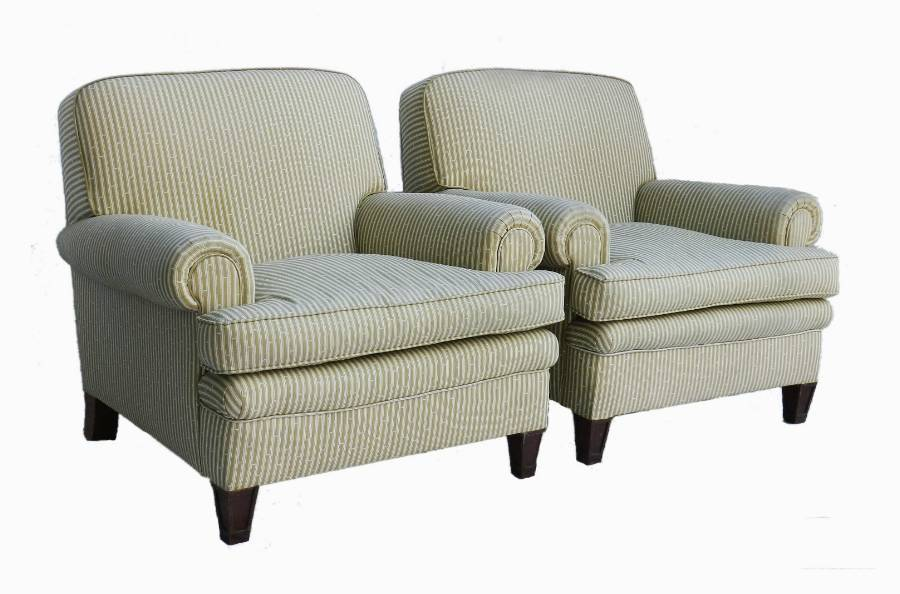 Antique Pair of French Art Deco Armchairs