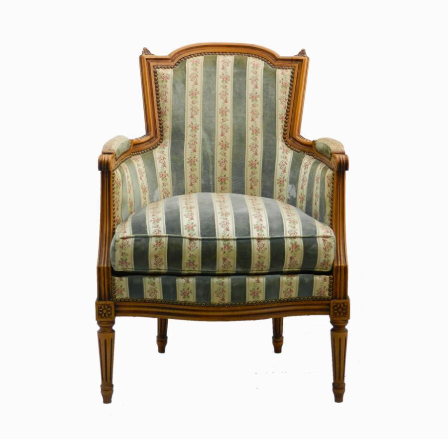 French Armchair Louis revival Bergere to recover