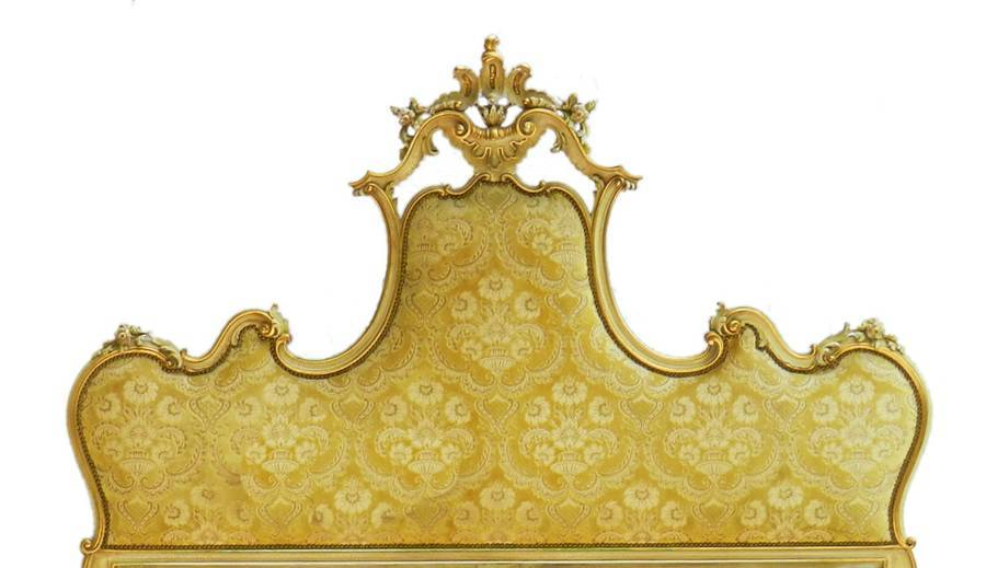 Antique Italian Bed to Recover or Headboard Louis Revival UK Super King Carved Venetian