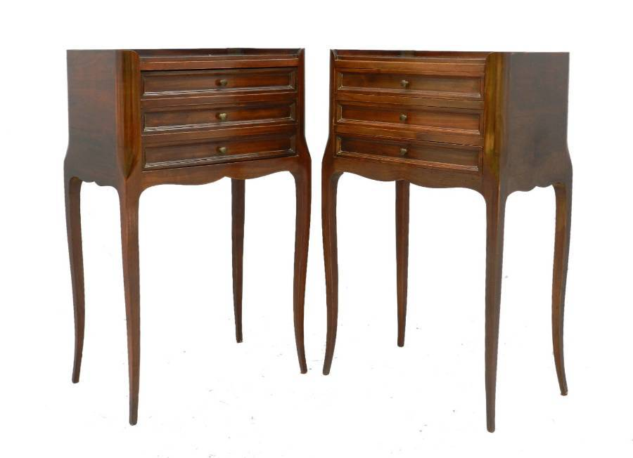 Pair Bedside Cabinets French early 20th century Louis