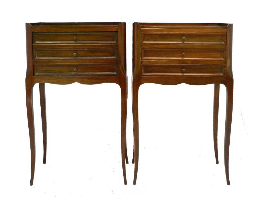 Antique Pair Bedside Cabinets French early 20th century Louis