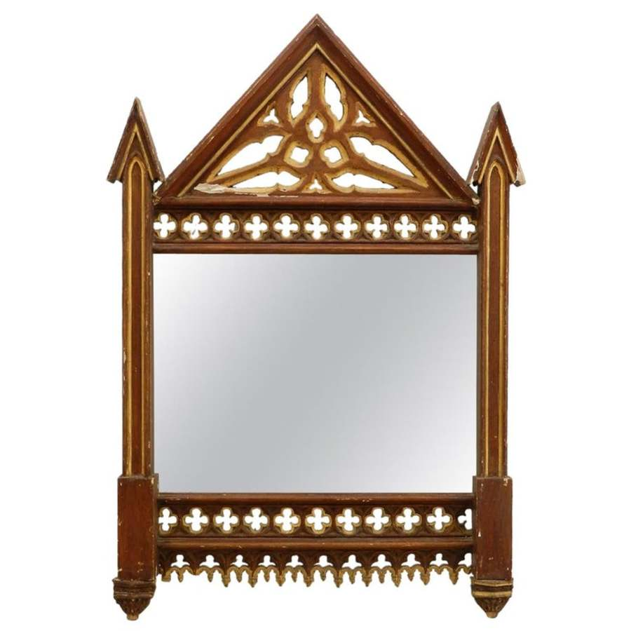 19th Century Gothic Wall Mirror Frame No1 two available see other listings