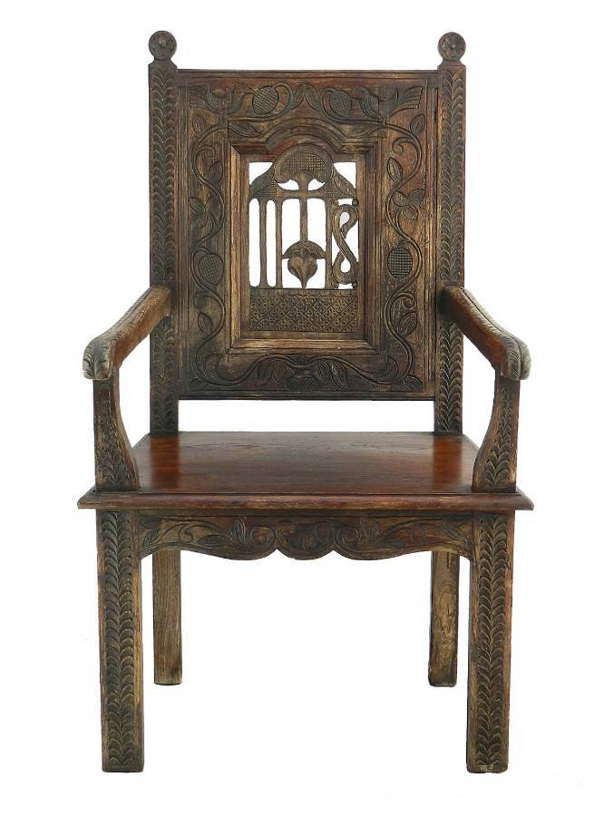 Art And Crafts Throne Chair French Country House Provincial C1900