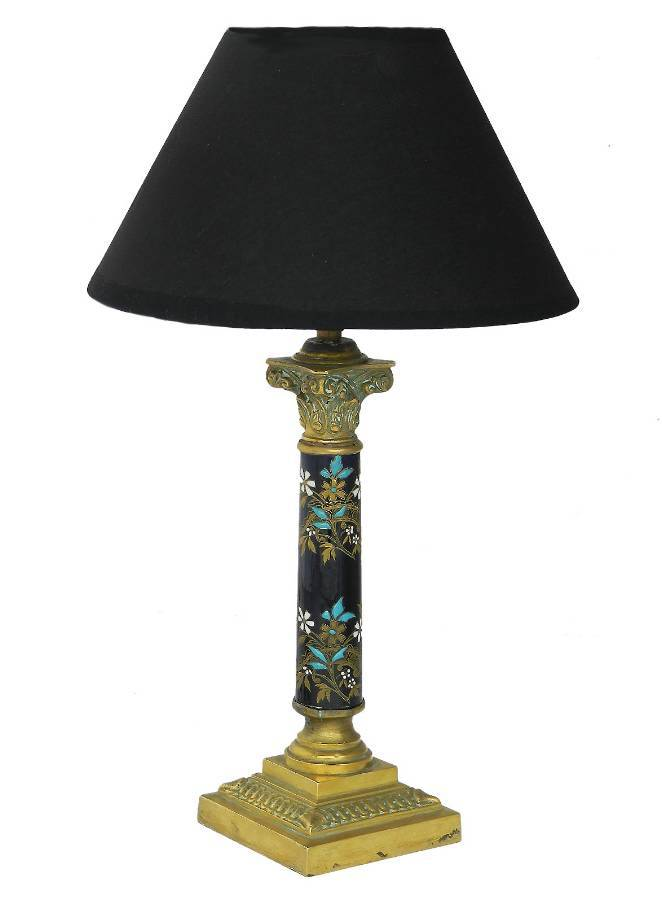 Antique French Corinthian Column Table Lamp c1900