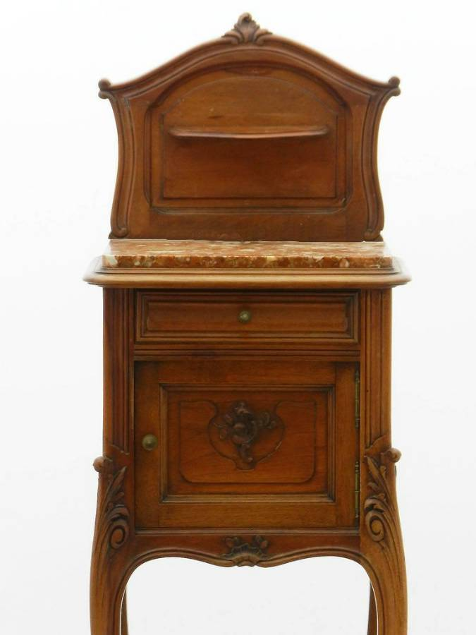 Antique French Side Cabinet Rococo Louis Revival 19th Century
