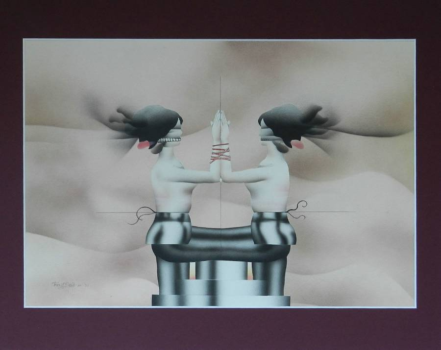 Terry Pastor 1971 Original Airbrush Illustration
