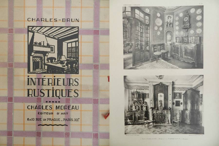 Moreau Brun 1920  1930 French Interior Design Folio Photographs from French Provincial Country Houses