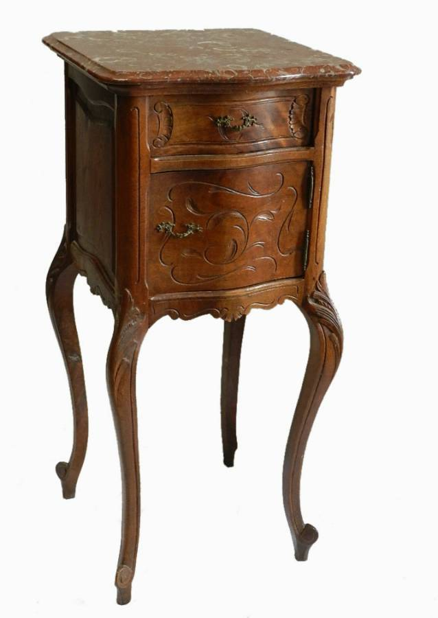 C19 French Antique Louis Bedside Table Cabinet Nightstand