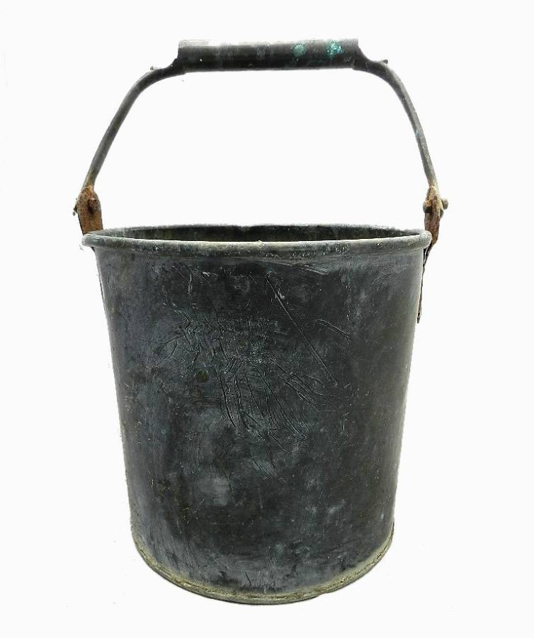 Antique Old Copper Bucket Dutton  Dean Warrington