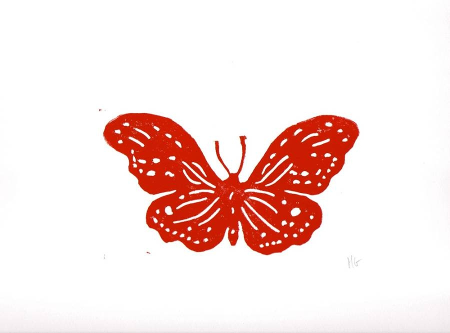 Antique Butterfly red