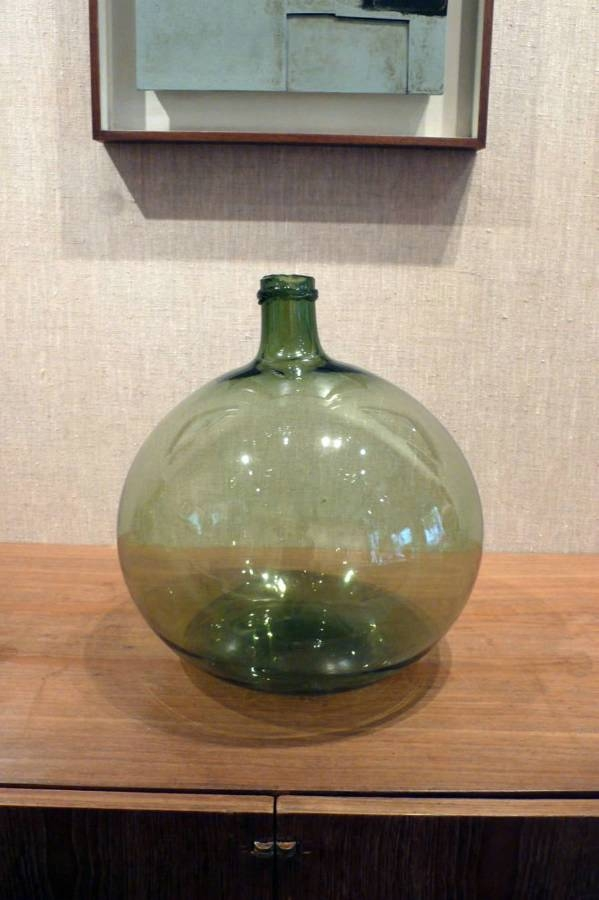 Antique French Green Demijohn No Four