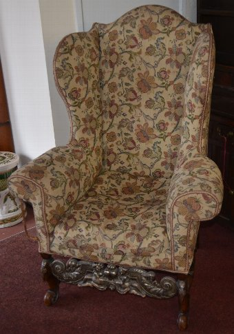 Beautiful Queen Anne style Wing Armchair