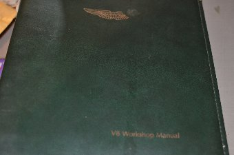 Antique aston martin V8 original manuals