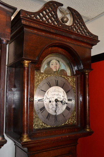 Antique J Harrison Newcastle 8 day Long Case clock in Mahogany