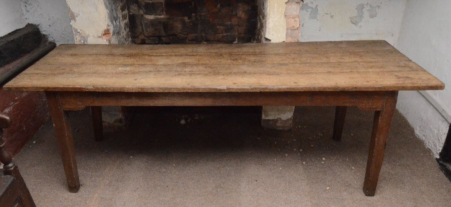 Oak farmhouse refectory table 18th Century
