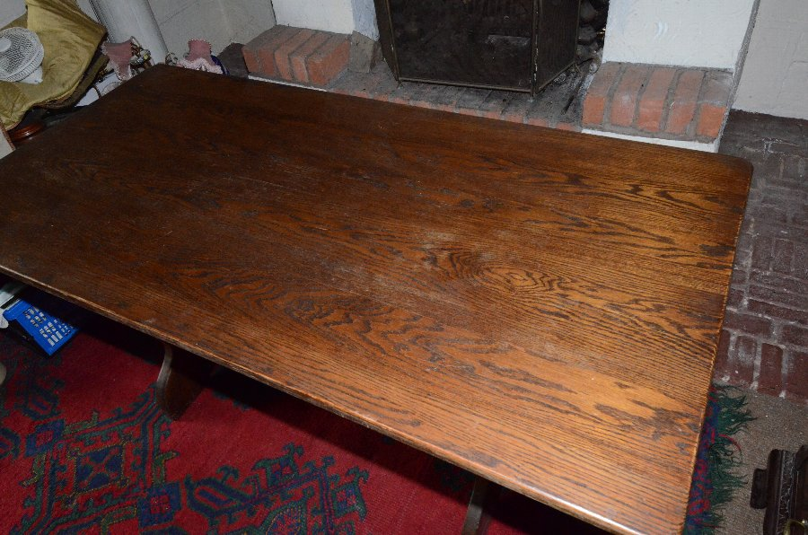 Antique Jacobean style Oak refectory dining table