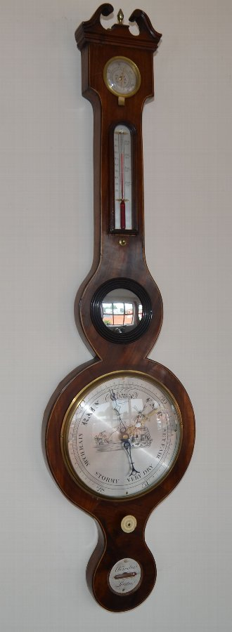 Antique Wheel Barometer by Tambra London