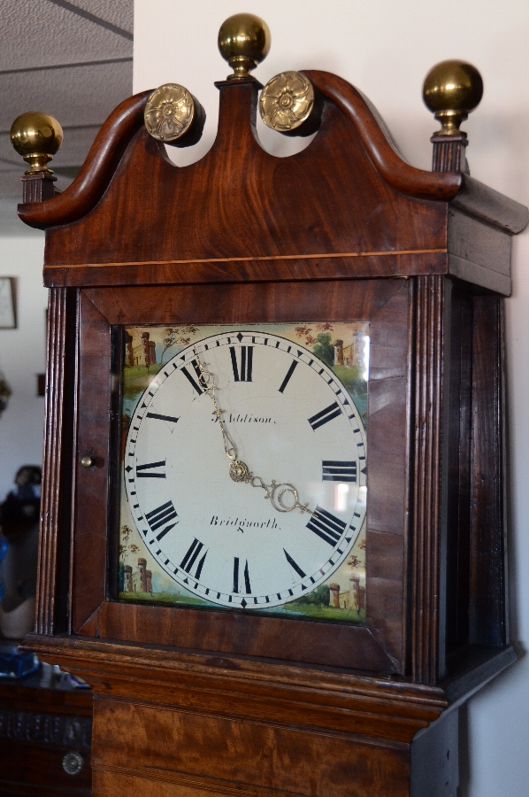 Antique John Addison 30 hour long case clock