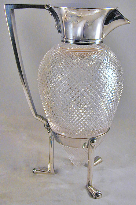 Antique A scarce Crow's Foot Claret Jug by Dr Christopher Dresser for Hukin & Heath 1878
