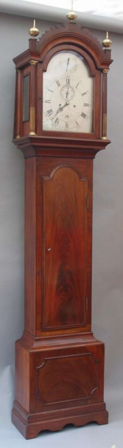 Antique Circa 1765 mahogany long case clock by John Waldron, London.