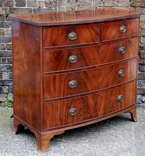 Regency Mahogany Bowfronted Chest of Drawers