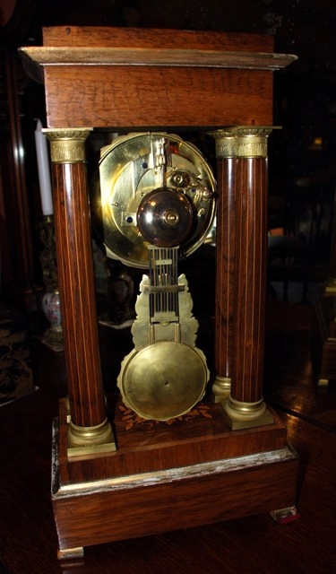 Antique Rosewood Portico/Mantle Clock, circa 1880