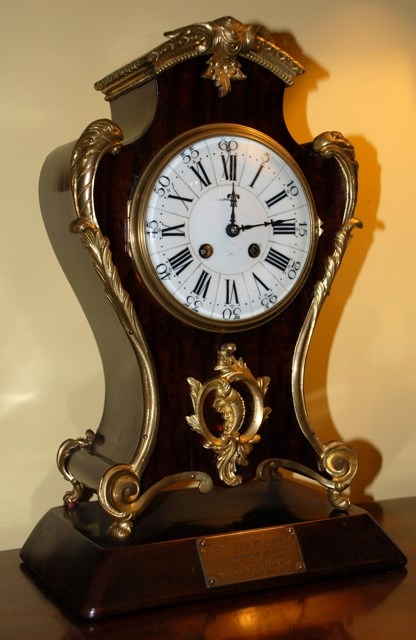 Late 19th Century mahogany and ormolu French mantle clock
