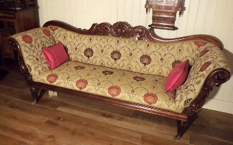 Antique Victorian double-ended settee