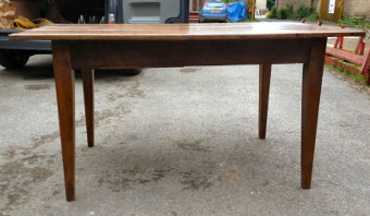 Antique 19th century French walnut farmhouse table.