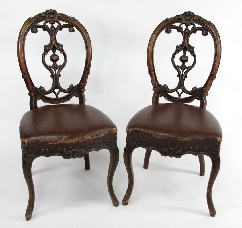 A Set of Five 19th Century Walnut Dining Chairs